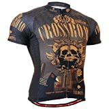 Fixgear Herren Skull Cycling Radtrikot Herren Brown Top Brown