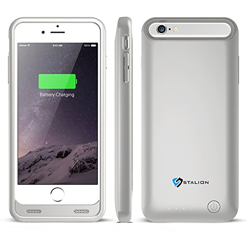 iPhone 6 Battery Case : Stalion® Stamina Rechargeable Extended Charging Case  with 2 Interchangeable Frames + LED Charge Indicator Light