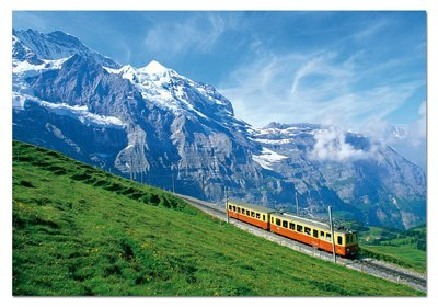 Cheap Educa Train Near Jungfrau Mountain – 1000pc Jigsaw Puzzle by EDUCA (B00289ONAE)