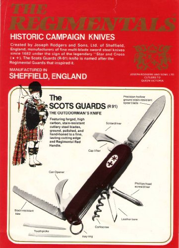 The Regimentals The Scots Guards R91 Pocket Knife