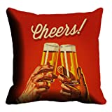 Lali Prints Cheers Digitally Printed Cushion Cover
