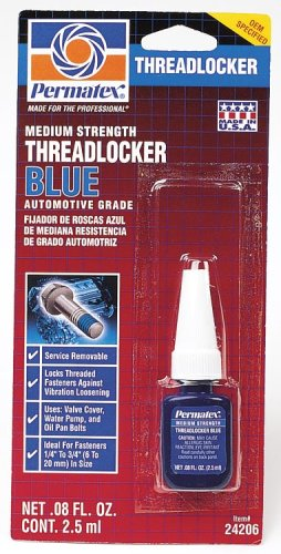 Permatex 24206 Medium Strength Threadlocker Blue, 2.5 ml