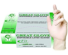 GREAT GLOVE PSG Latex Powder-Free fit, General Purpose Glove