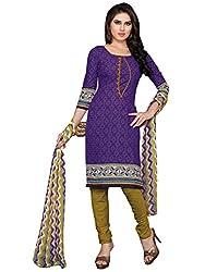 Jinal Fashion women's Cotton Unsitched dress material (Blue_color)