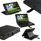 iGadgitz Black Genuine Leather Case Cover for Asus Eee Pad Transformer & Keyboard Dock TF101 TF101G 10.1 3.0 Android Tablet
