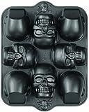 Wilton 2105-0607 Dimensions 8-Cavity 3D Skull Pan, Mini