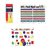 WeGlow International Learning Placemats With Markers: Counting Numbers And Shapes & Colors