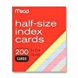 Mead Colored Index Cards, 3 X 2.5 Inches (63039)