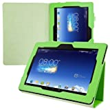 Elegant leather case for Asus Memo Pad FHD 10 ME302C / ME302KL in Green with convenient STAND FEATURE from kwmobile