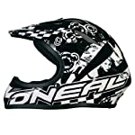 O Neal Azonic Full-Face Black Flip Bicycle Helmet (Black Red, X-Small)