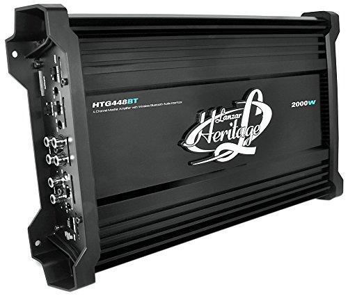 Lanzar Htg448Bt Heritage Series 2000 Watt 4-Channel Mosfet Amplifier With Wireless Bluetooth Audio Interface