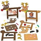Amazon.co.jpクリスマス トナカイ 木製フォトフレームキット 子供達の手作り、思い出のプレゼントに 楽しい写真立て