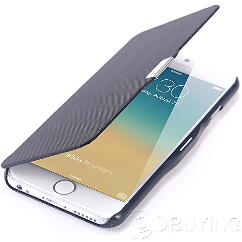 Apple iPhone 7 Ultra Thin Slim Wallet Magnetic Flip PU Leather Hard Case Cover Skin Pouch for iPhone 7 (black)