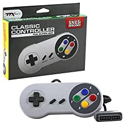 SNES - Controller - Wired - Super Famicom Style - Grey - Retail Packaging (TTX Tech) by TTX Tech