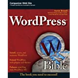 WordPress Bible (Paperback) By Aaron Brazell          52 used and new from $0.39     Customer Rating: