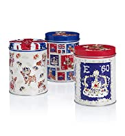 Coronation Tea, Coffee & Sugar Tins
