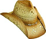 Western Cowgirl Hat with Glass Beads by Dorfman Pacific