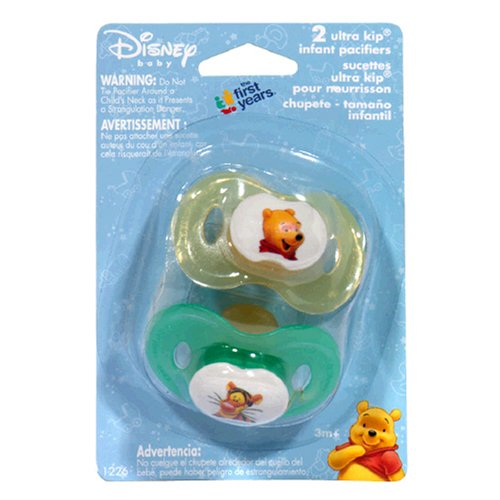 The First Years Disney Baby Ultra Kip Infant Pacifiers, 3M+, Set of 2 Pacifiers (Pack of 4) - 1