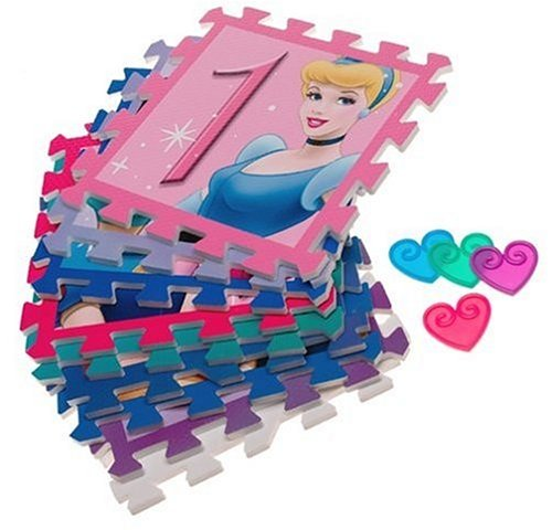 Numbers Foam Disney Princess Deluxe Hopscotch Foam Floor Mat