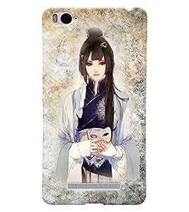 Fuson 3D Printed Girly Designer back case cover for Xiaomi Mi 4i - D4415