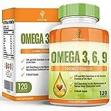 Earths Design Omega 3 Fish Oil, 1000mg, High Strength EPA DHA for Brain, Heart & Joint Health - 120 Capsules