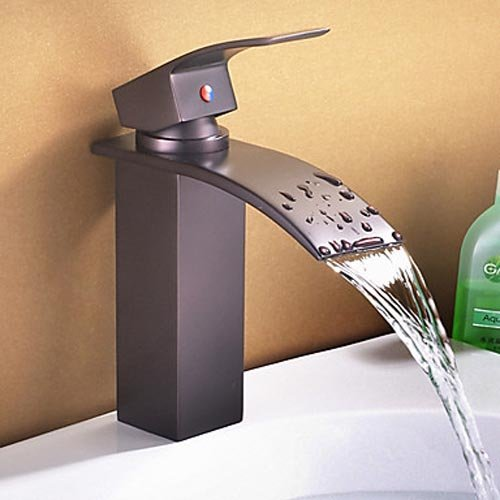 Find Discount rozin Waterfall Bathroom Sink Vessel Faucet Oil Rubbed Bronze One Hole Basin Mixer Tap