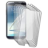 eForCity 6-Pack Reusable Screen Protector Compatible with Samsung© Galaxy Note II N7100