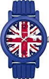 Timex Original Ladies Quartz Watch with Multicolour Dial Analogue Display and Blue Silicone Strap T2N797PF