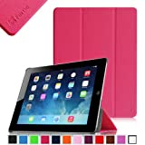 Fintie SmartShell Case for Apple iPad 4th Generation with Retina Display, iPad 3 & iPad 2 Ultra Slim Lightweight Stand (with Smart Cover Auto Wake / Sleep) - Magenta