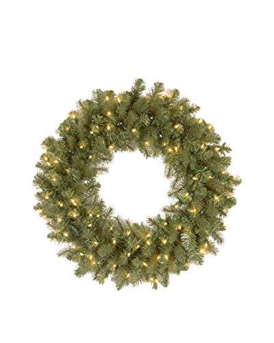 National Tree Company 24 Feel Real Down Swept Douglas Wreath