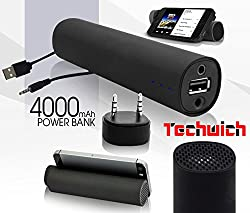 Techwich Power Jam 3 in 1 Power Bank Bluetooth Speaker / Mobile Stand / 4000mah Power Bank