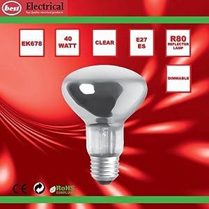 Bulk Hardware BH00566 ES R80 Reflector Lamp, 40 W - Pack of 5 from Bulk Hardware Ltd
