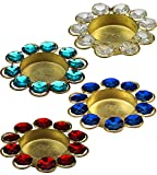 ITOS365 Diwali Diya Lights Candle Holder Home Decoration, Set of 4