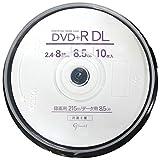 Good-J DVD+R DL CPRM非対応 データ&ビデオ対応(8.5GB/215min) 2.4-8倍速 ワイドプリンタブル 10枚 スピンドルケース GJDL+8X10PW ランキングお取り寄せ