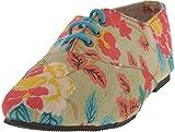 Shoecrea Women's Beige Silk Casual Shoe - 9 UK