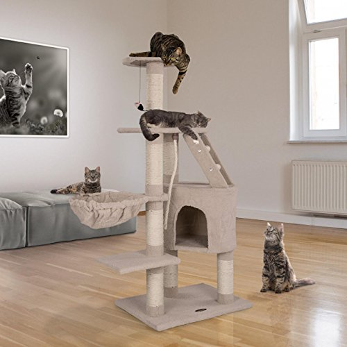 beauté boutique officielle construction rationnelle Happypet Tiragraffi per Gatti Albero Palestra Graffiatoio Sisal Medio  Grande 120 x 85 x 60 cm