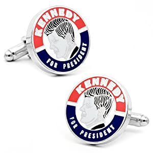 Vintage Style Kennedy For President Cufflinks