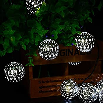 where can i find ledertek solar powered moroccan globe string lights 10 led 11ft fairy christmas. Black Bedroom Furniture Sets. Home Design Ideas