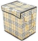 Azaan Decor Polyester Foldable Laundry Basket (33 cm x 45 cm x 40 cm, AD_514)