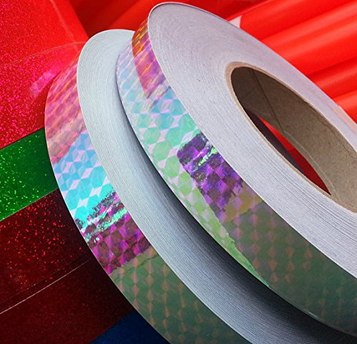 "30 ft. roll of 3/4"" Rainbow Holographic Hula Hoop Tape"