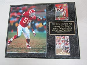 Derrick Thomas Kansas City Chiefs 2 Card Collector Plaque w 8x10 Photo by J & C Baseball Clubhouse