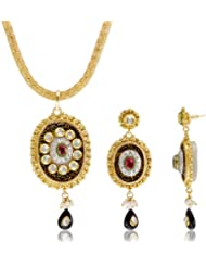 Niki Jewels Meenakari Pendant Jewellery set for women (Multi Colour) (00516 234)