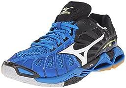 Mizuno Men\'s Wave Tornado X Volleyball Shoe, Directoire Blue/Black, 8 D US