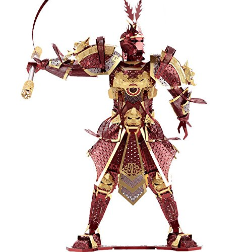 [Piececool 3D Metal Puzzle The Monkey King Wukong Models DIY Laser Cut Jigsaw Toy] (Real Fx Masks)