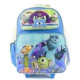 "Disney Monsters University Roller Backpack - Eye 16"" Large Wheeled Boys Book Bag"
