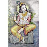 "Dolls Of India ""Murlidhar Krishna"" Reprint On Paper - Unframed (72.39 X 50.80 Centimeters)"