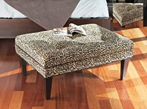 40 Snazzy Leopard Print Rectangular Ottoman Coffee Table