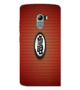 PrintDhaba Red Pattern D-1560 Back Case Cover for LENOVO VIBE K4 NOTE (Multi-Coloured)