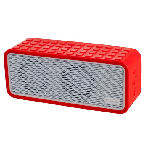 Sunbeam Rechargeable Bluetooth Conference Speaker With Microphone - Retail Packaging - Red