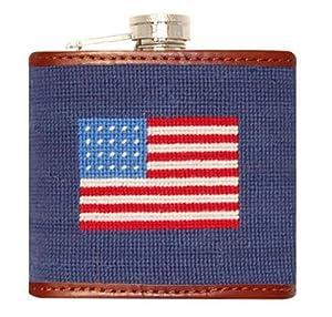 Smathers & Branson American Flag Needlepoint Flask (Flask-10)